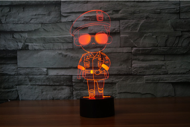 Soldier 3D Optical Illusion LED Lamp