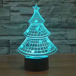 chilldecor.com Christmas Tree 3D Optical Illusion LED Lamp