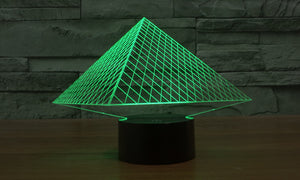 Pyramid 3D Optical Illusion LED Lamp