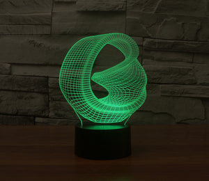 Abstract Graphic Circle 3D Optical Illusion LED Lamp