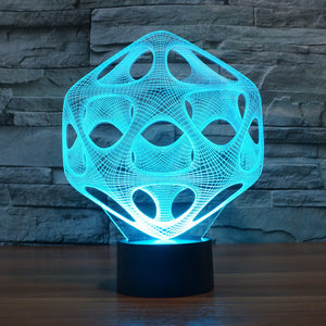 Abstract Graphic 3D Optical Illusion LED Lamp