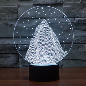 Mountain 3D Optical Illusion LED Lamp