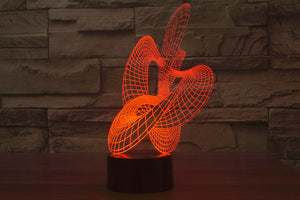 Abstract Sculpture 3D Optical Illusion LED Lamp