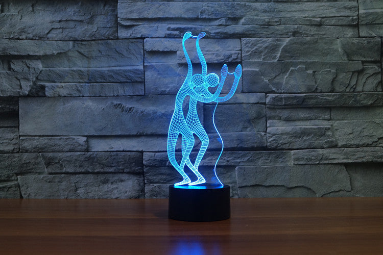 Abstract Dancers 3D Optical Illusion LED Lamp