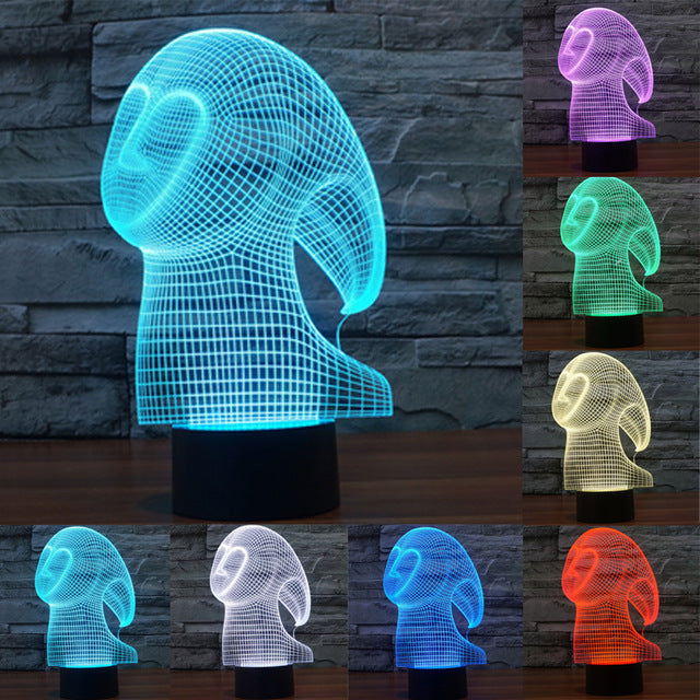 chilldecor.com Ghost 3D Optical Illusion LED Lamp