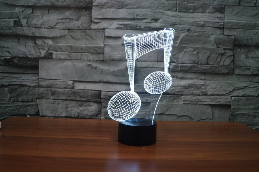 Musical Note 3D Optical Illusion LED Lamp
