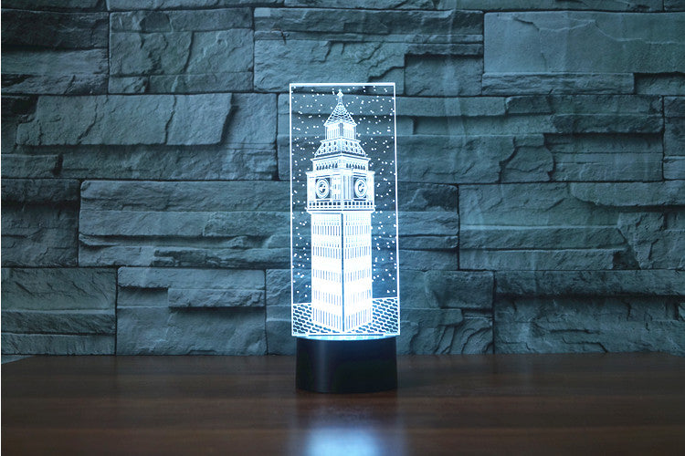London Landmark Big Ben Model 3D Optical Illusion LED Lamp