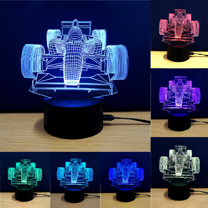 Racing Car 3D Optical Illusion LED Lamp