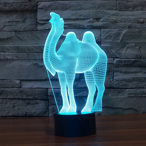 chilldecor.com Camel 3D Optical Illusion LED Lamp