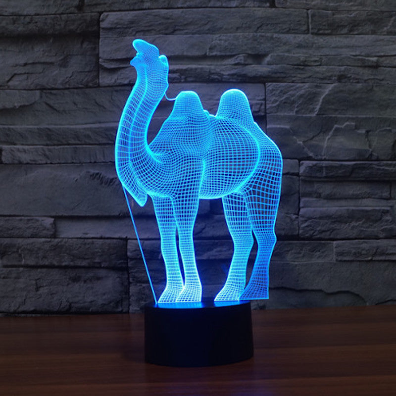 Camel 3D Optical Illusion LED Lamp