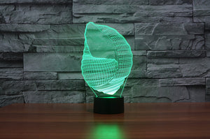 Conch 3D Optical Illusion LED Lamp