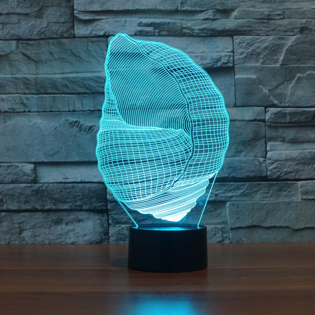 chilldecor.com Conch 3D Optical Illusion LED Lamp