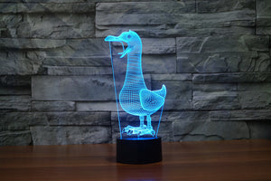 Bird Shape 3D Optical Illusion LED Lamp