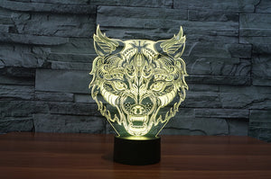 Leopard Inspired 3D Optical Illusion LED Lamp