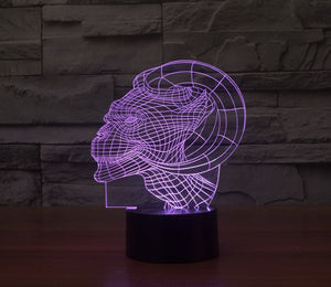 Devil 3D Optical Illusion LED Lamp