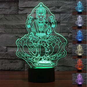 New Buddha 3D Optical Illusion LED Lamp