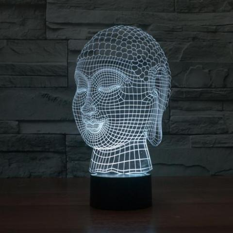 Buddha 3D Optical Illusion LED Lamp