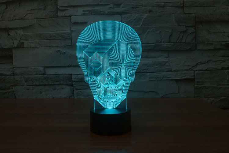Morphing Skull 3D Optical Illusion LED Lamp