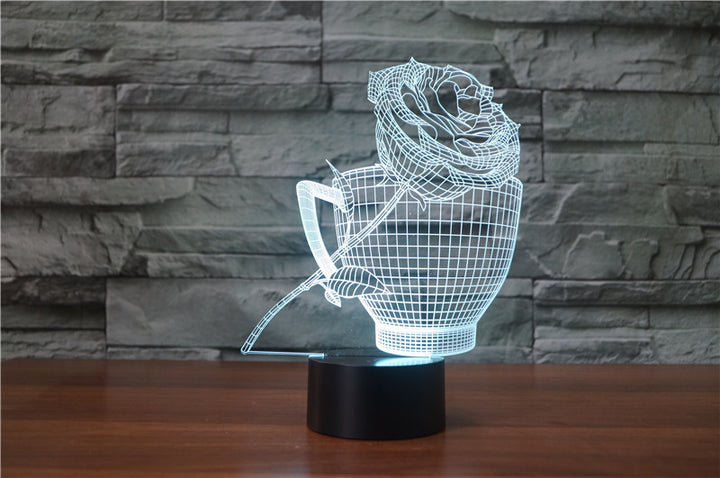 Rose 3D Optical Illusion LED Lamp