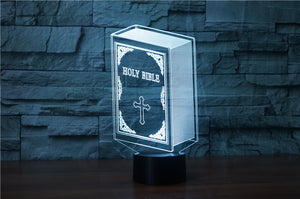 Bible 3D Optical Illusion LED Lamp