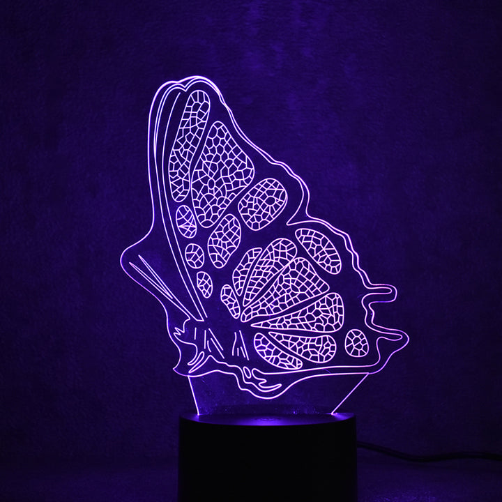 New Butterfly 3D Optical Illusion LED Lamp