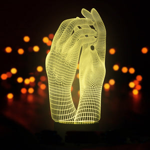 Hand In Hand Valentine's Day Gift 3D Optical Illusion LED Lamp