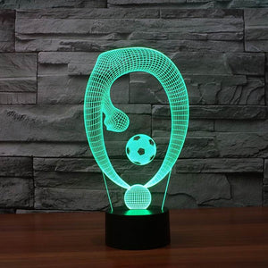 Soccer Dance 3D Optical Illusion LED Lamp