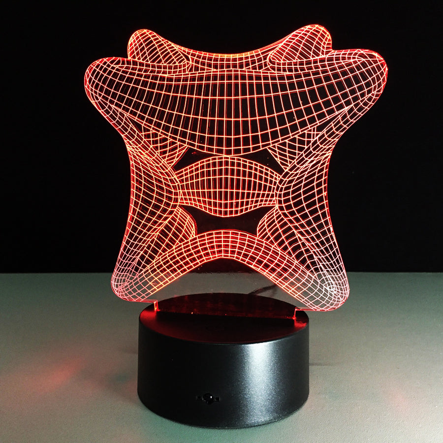 Abstract Cube 3D Optical Illusion LED Lamp