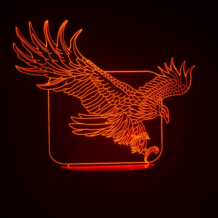 Eagle 3D Optical Illusion LED Lamp chilldecor.com