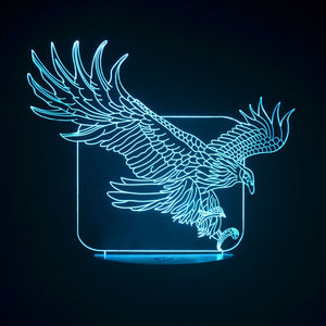 Eagle 3D Optical Illusion LED Lamp