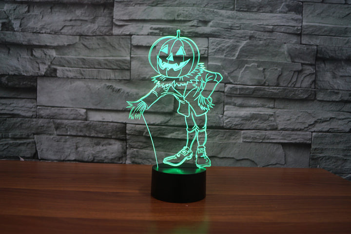 Pumpkin Man 3D Optical Illusion LED Lamp