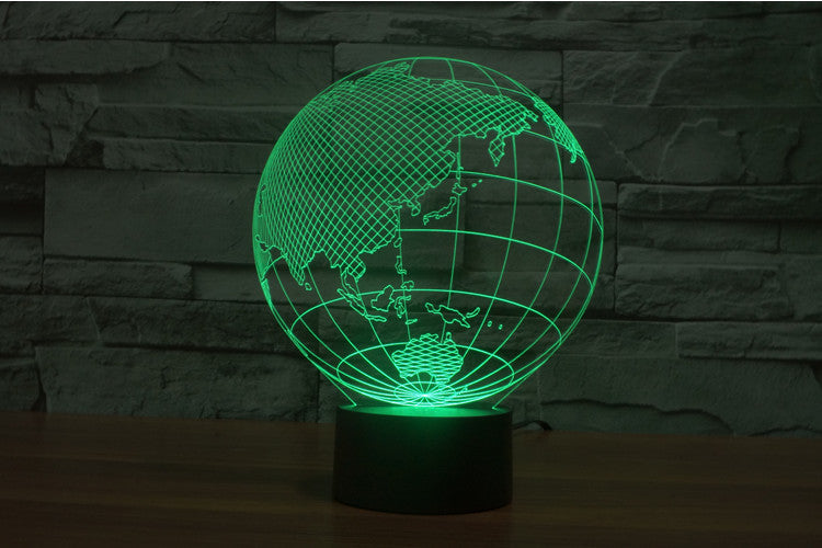 chilldecor.com Earth 3D Optical Illusion LED Lamp