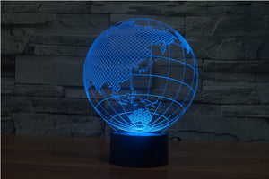 Earth 3D Optical Illusion LED Lamp