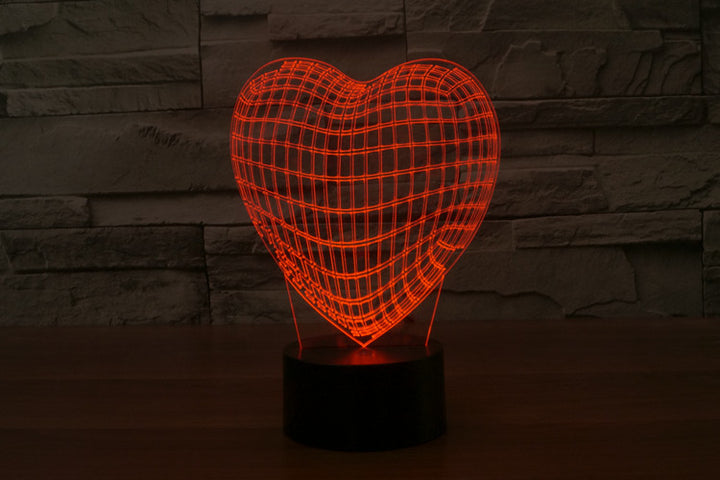 chilldecor.com Heart 3D Optical Illusion LED Lamp