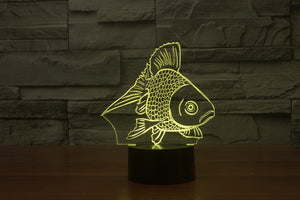 chilldecor.com Golden Fish 3D Optical Illusion LED Lamp