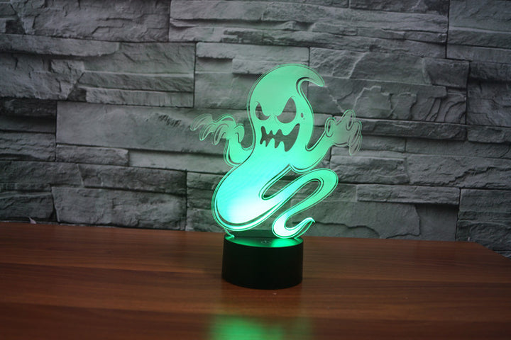 Fantasy Ghost 3D Optical Illusion LED Lamp Chill Décor