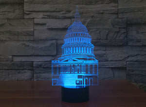 United States Capitol 3D Optical Illusion LED Lamp