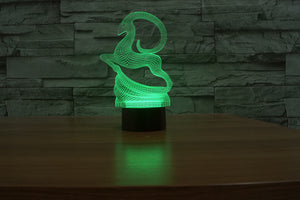 Goat 3D Optical Illusion LED Lamp