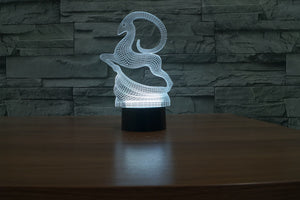 chilldecor.com Goat 3D Optical Illusion LED Lamp
