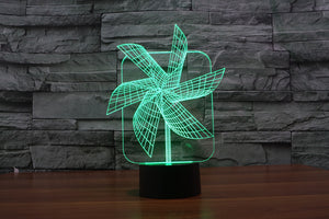 chilldecor.com Windmill 3D Optical Illusion LED Lamp
