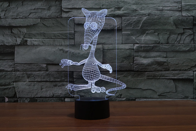 Mouse 3D Optical Illusion LED Lamp