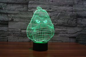 chilldecor.com Cartoon Face 3D Optical Illusion LED Lamp