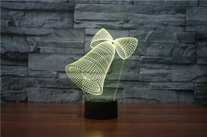 chilldecor.com Christmas Bell 3D Optical Illusion LED Lamp