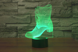 Shoe 3D Optical Illusion LED Lamp
