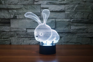 chilldecor.com Cartoon Rabbit 3D Optical Illusion LED Lamp