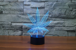 Marijuana Weed 3D Optical Illusion LED Lamp