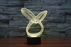 Abstract Graphic 7 Colours 3D Optical Illusion LED Lamp