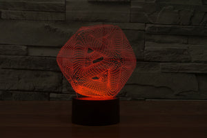 7 Colours Abstract Decorative 3D Optical Illusion LED Lamp