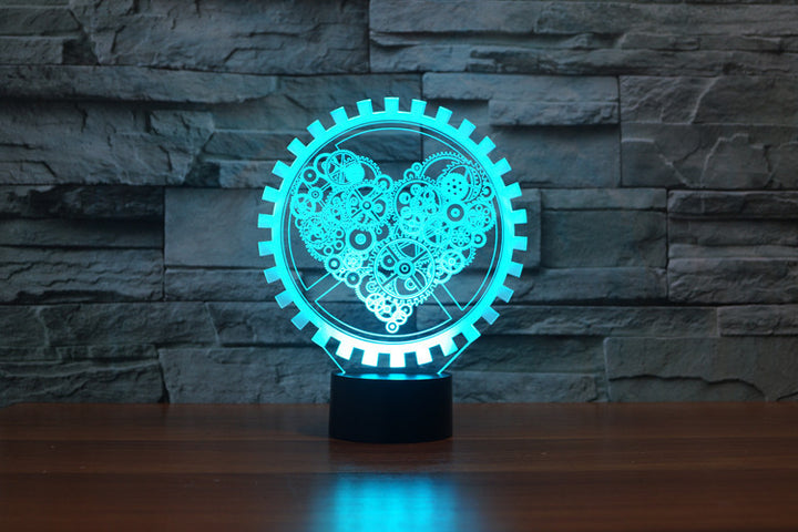 chilldecor.com Electronic Love Heart Shape 3D Optical Illusion LED Lamp
