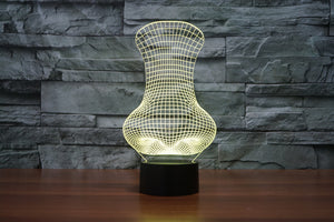 Big Nose shape 3D Optical Illusion LED Lamp